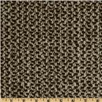 Wool Blend Coating Chunky Weave White/Brown