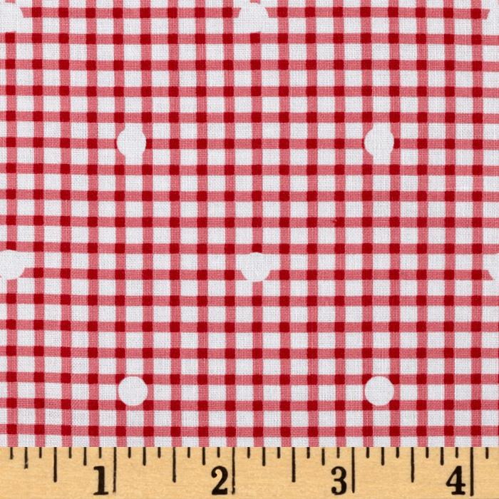 Hill Farm Gingham Dot Pink