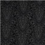 0275356 Black, White & Currant 4 Damask Black