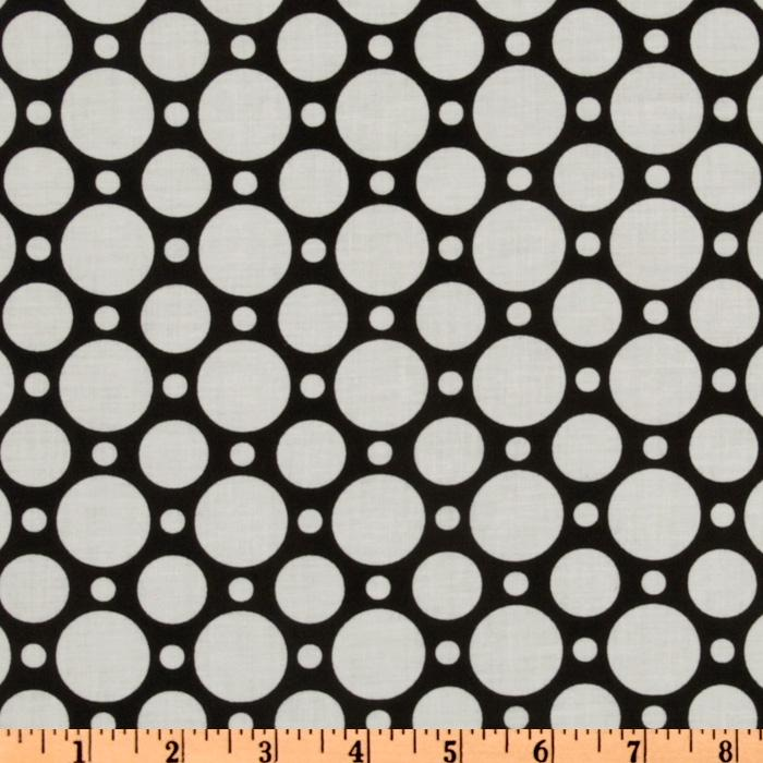 Crazy for Dots & Stripes Large Dot Black/White