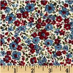 Heritage Flannel Small Flower Ivory