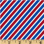 Handle With Care Diagonal Stripe Red/White/Blue