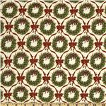 FO-017 Merry Christmas Wreaths & Bows Green/Red