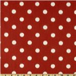 Premier Prints Ikat Dots Primary Red/Natural