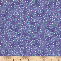 Cool Cats Small Floral Purple