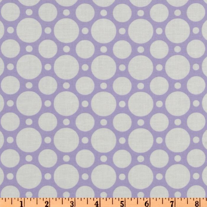 Crazy for Dots & Stripes Large Dot Purple/White