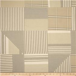 Benartex Home Iona Patchwork Stripe Khaki/Natural