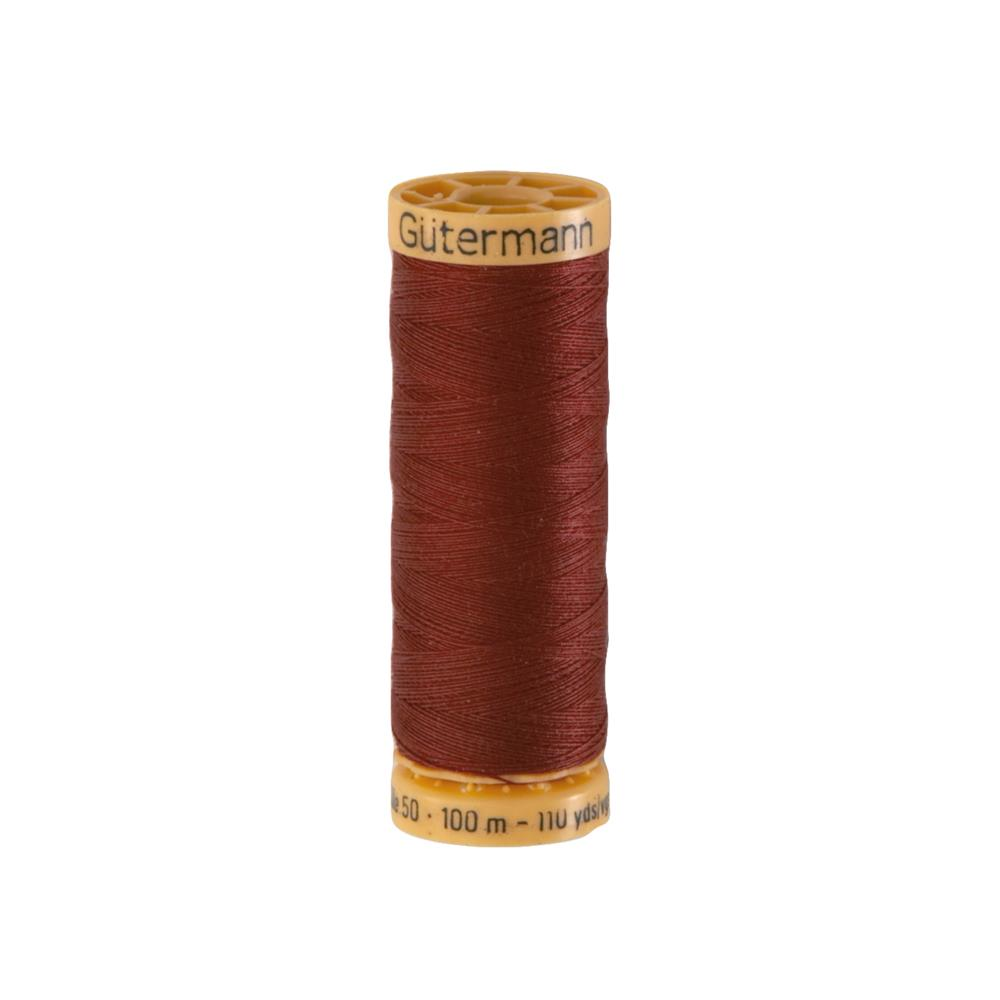 Gutermann Natural Cotton Thread 100m/109yds Rust Red