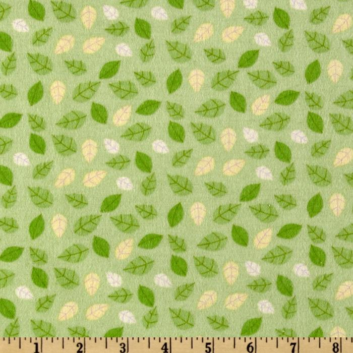 Fun the Bear Flannel Leaves Green