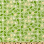 FV-188 Fun the Bear Flannel Leaves Green