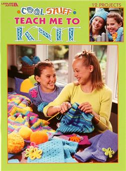 "Leisure Arts ""Cool Stuff Teach Me to Knit"" Book"