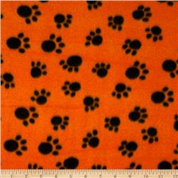 WinterFleece Paws Orange