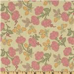 Mackinaw Island Tossed Sprigs Pastel Pink