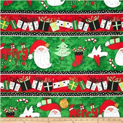 Happy Holly Days Repeating Stripe Multi