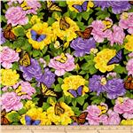 Timeless Treasures Butterflies Black