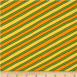 Moda Beary Happy Birthday Stripe Orange/Yellow