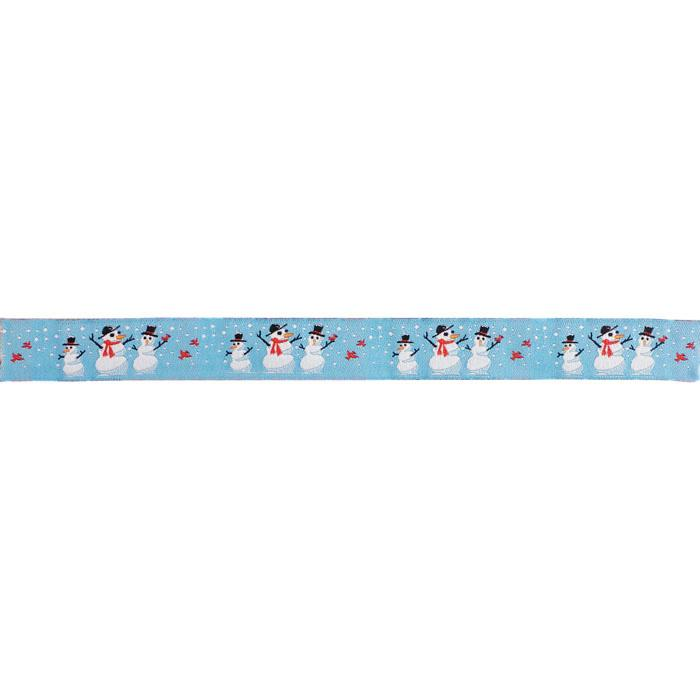 7/8'' Ribbon Snowman Blue