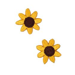 Boutique Applique Sunflowers Yellow/Brown