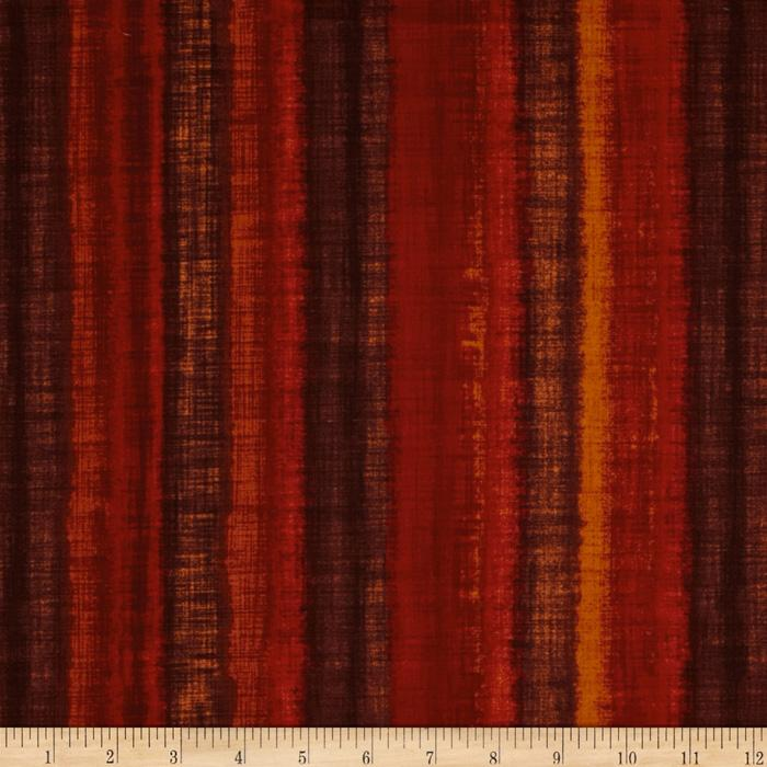 Fusions Ombre Collection Stripe Spice Red