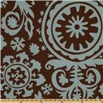 UJ-174 Premier Prints Suzani Village Brown/Blue