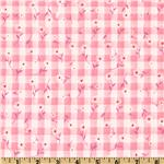 Woven 1/4&#39;&#39; Daisy Gingham Pink