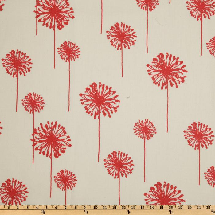 Premier Prints Indoor/Outdoor Dandelion White/American Red