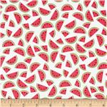 Timeless Treasures Mini Watermelon White