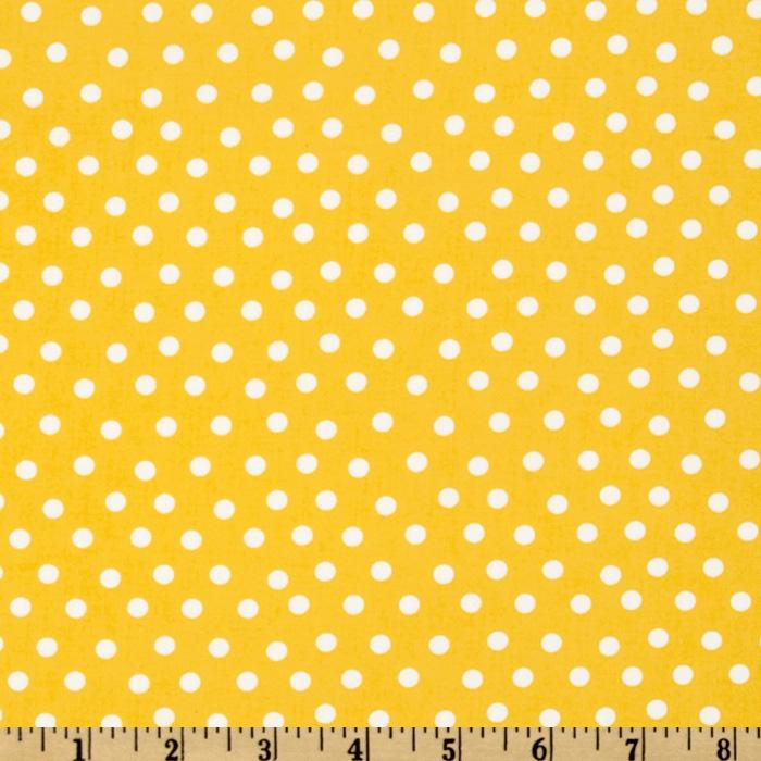 Moda Welcome To Bear Country Dots Yellow