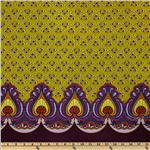 0265805 Feathers & Fancy Peacock Double Border Plum