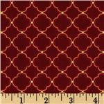 Oriental Traditions 10 Tile Crimson