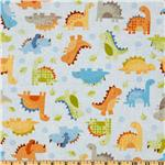 Babysaurus Baby Dinos All Over Blue