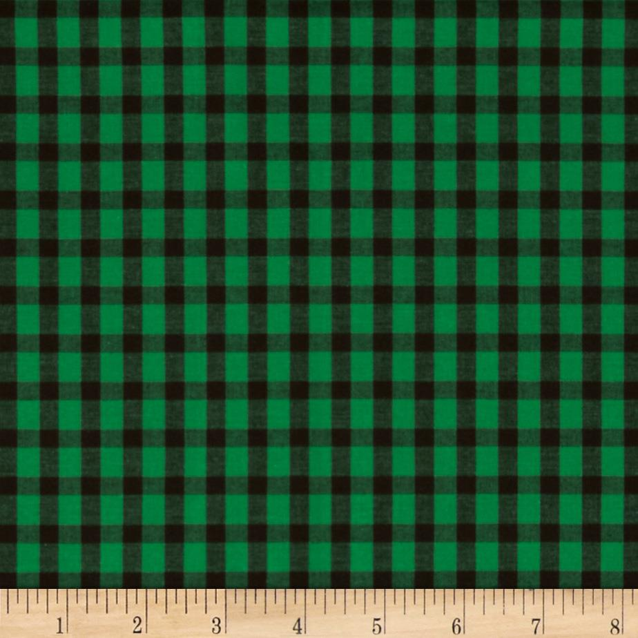Prepster Stretch Yarn Dyed Shirting Plaid Black/Green