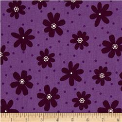 Jasmine Flower & Dot Purple
