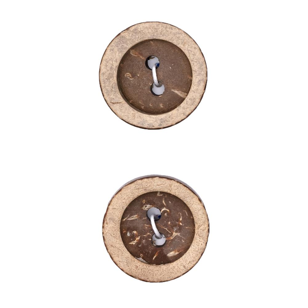 "Fashion Button 7/8"" Coconut Natural"