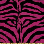UL-466 Flocked Taffeta Zebra Print Hot Pink