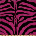 Flocked Taffeta Zebra Print Hot Pink
