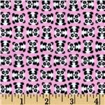 Timeless Treasures Minis Flannel Pandas Pink