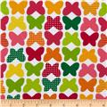 Laguna Stretch Cotton Jersey Knit Butterflies Citrus