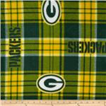 201816 NFL Fleece Green Bay Pakers Plaid Green