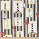 0274048 Moda Beacon Cove Lighthouse Stripe Black