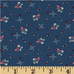 Heart of the Prairie Small Floral Navy