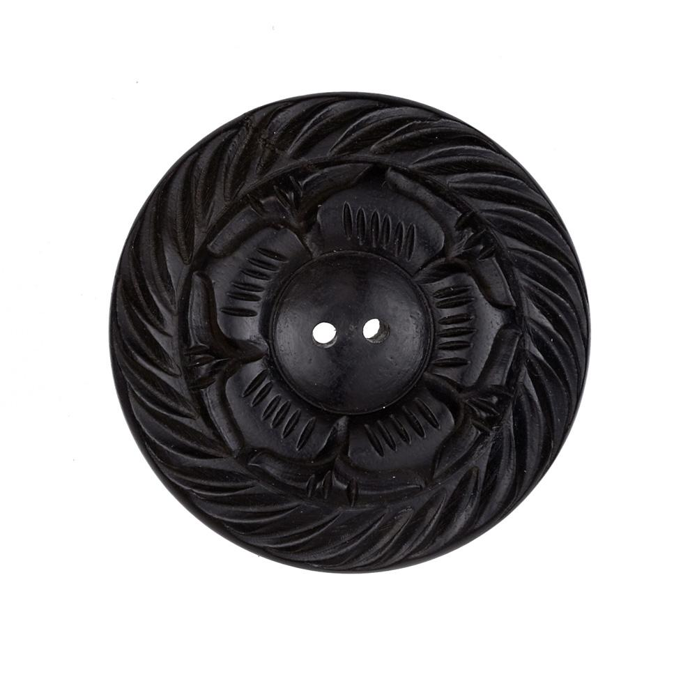 Wood Button 1 3/4'' Kabir Black