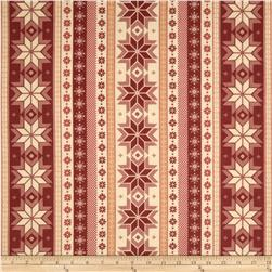 Nordica Flannel Snowflake Stripe Antique