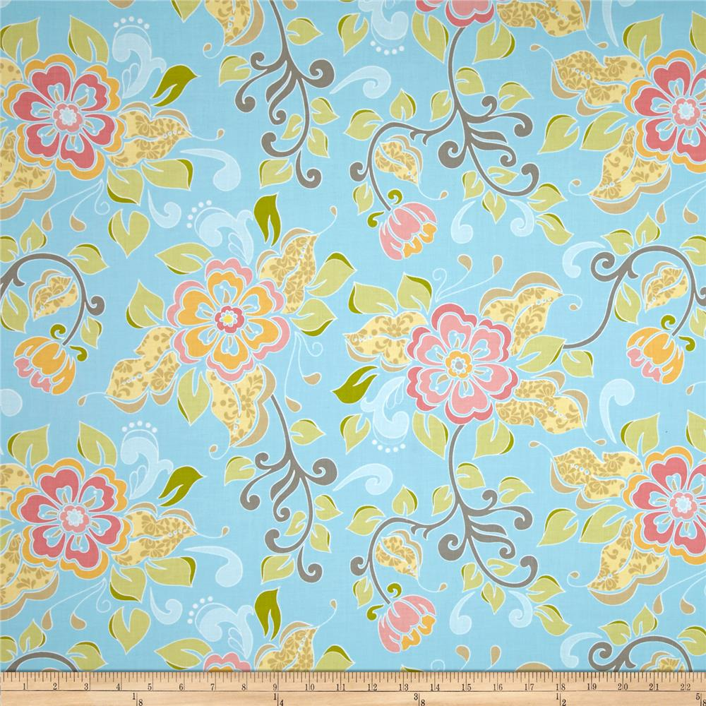 Riley Blake Priscilla Large Floral Blue