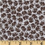 0290523 Michael Miller Little Elephants Flannel Dirt Brown