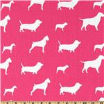 DC-246 Premier Prints Best Friends Candy Pink/White