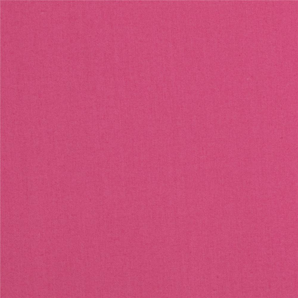 Americana Stretch Cotton Poplin Hot Pink