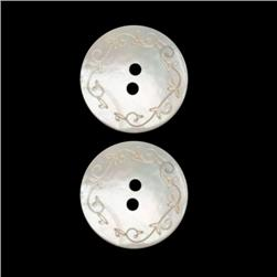Genuine Shell Button 3/4'' Lacy Shell White