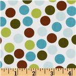 DK-259 Remix Dots Brown/Aqua/White
