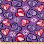 0262628 Fleece Hearts Purple/Pink